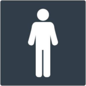 Targa uomini - servizi igienici