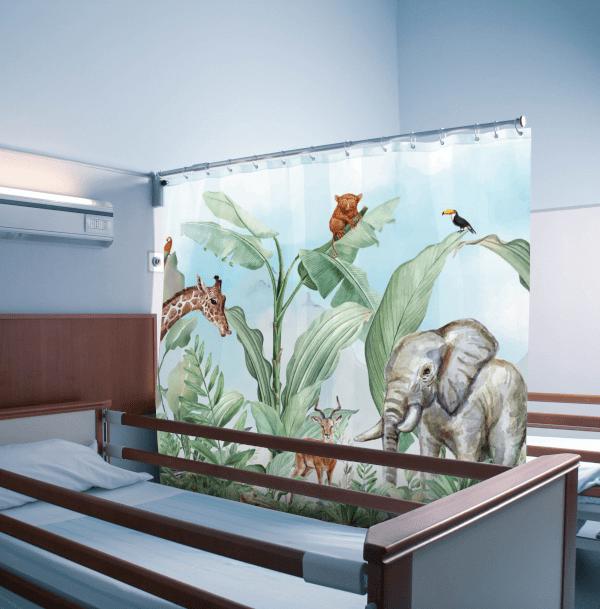 Paravento personalizzato con stampa di animali