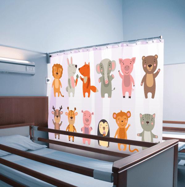 Paravento personalizzato con stampa di disegni per bambini